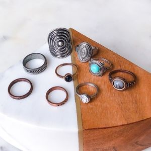 Various Rings –Size 7 & 8